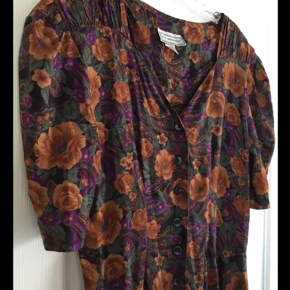 Vintage Dresses & Skirts - Womens E. D. Michaels Vintage Maxi Floral Dress